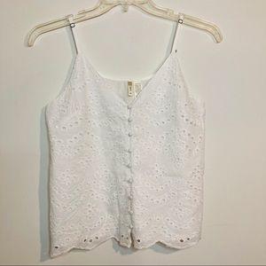 Japna Eyelet Cotton Cami White Size Medium